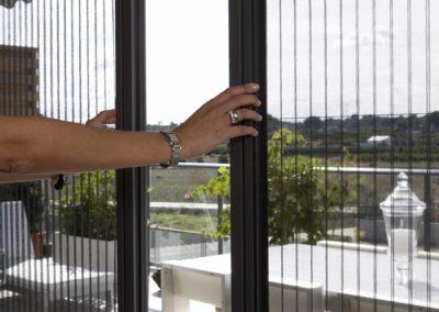 Insektenschutz Plissee Balkon offen