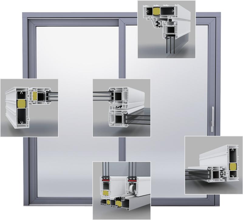 Balkontür System VEKA QuinLine 74 für höchste Ansprüche