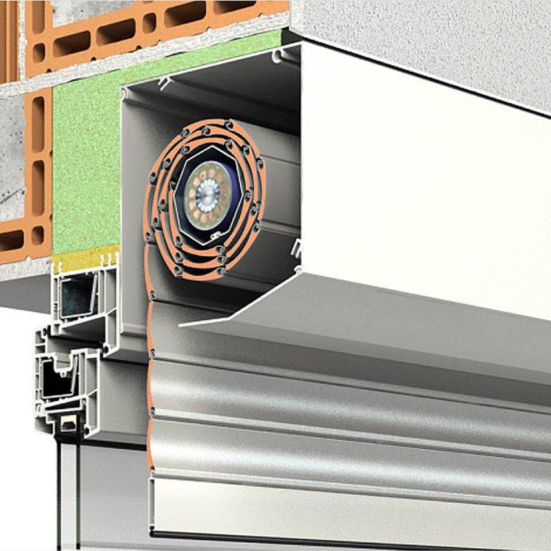 Das Aluminium-Rollladensystem PENTO von ROMA mit der fünfeckigen Kastenform