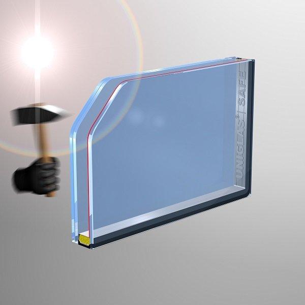 UNIGLAS SAFE Verglasung für Fenster und Türen