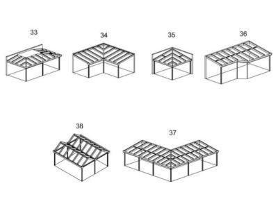 Auswahl Dachformen 33 bis 37