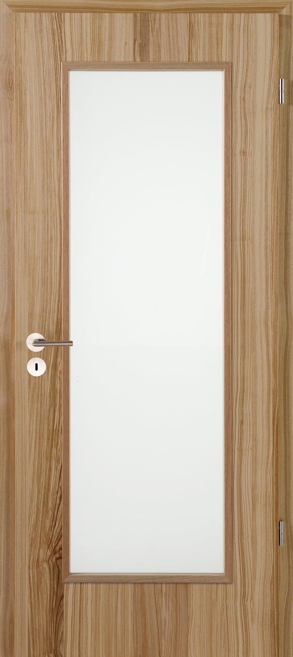 Jeldwen Zimmertür mit Glasausschnitt Braunkernesche