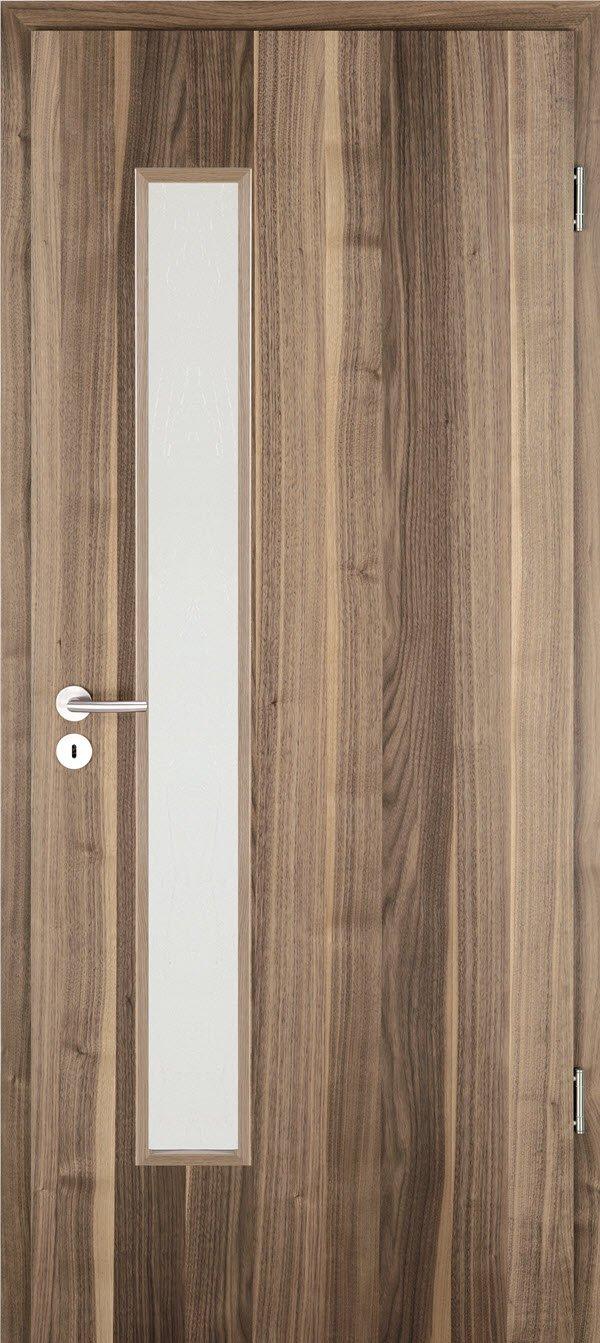 Jeldwen Zimmertür mit Glasausschnitt Nussbaum