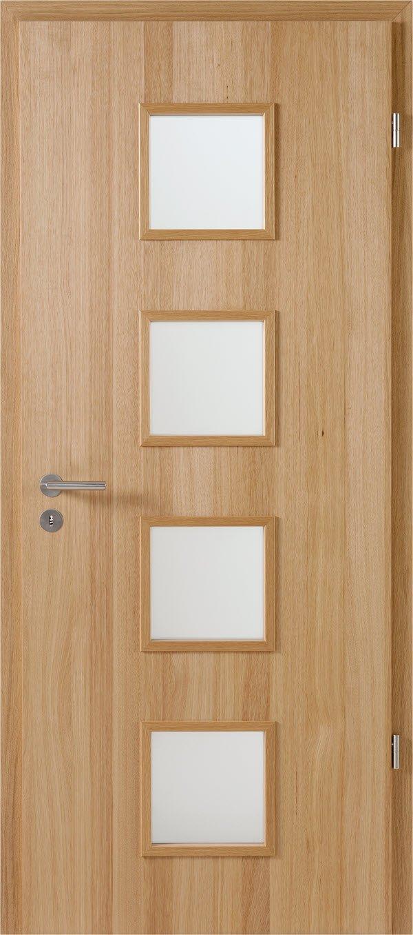 Jeldwen Zimmertür mit Glasausschnitt Hickory