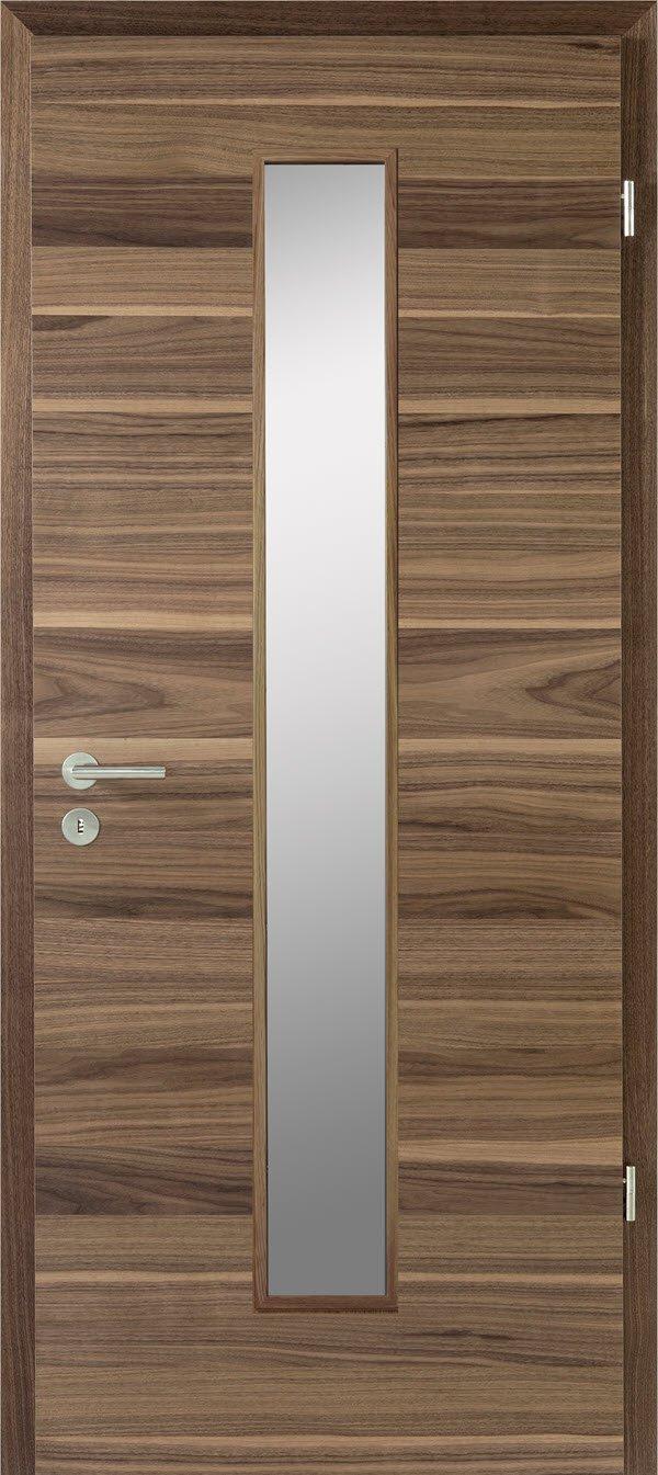 Zimmertür mit Lichtausschnitt Optima LOE 30 Nussbaum