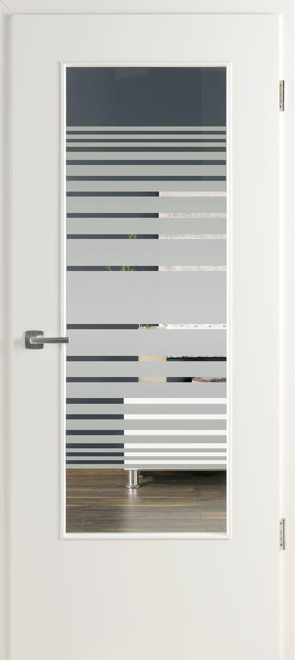 Zimmertür mit Lichtausschnitt Optima LOE 23 Beam weiss