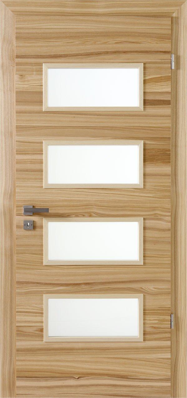 Zimmertür mit Lichtausschnitt Optima LOE 40 Braunkernesche