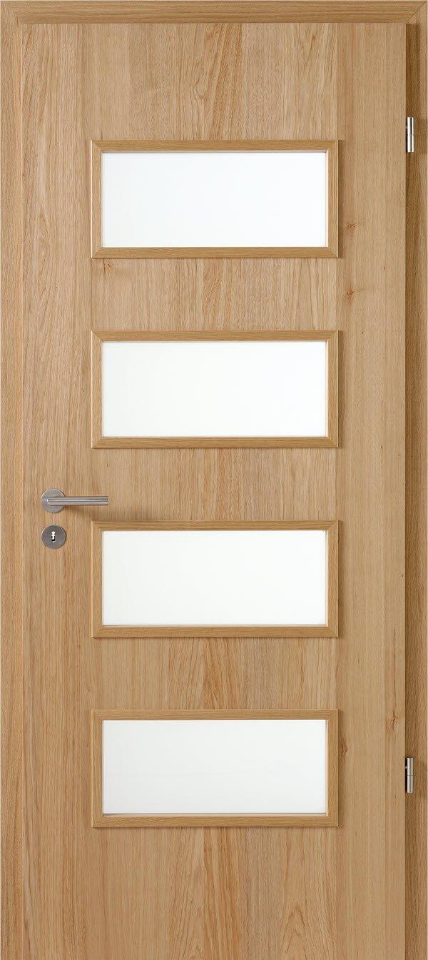Zimmertür mit Lichtausschnitt Optima LOE 40 Hickory